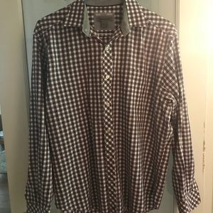 Johnston and Murphy Tailored Fit Large Dress Shirt
